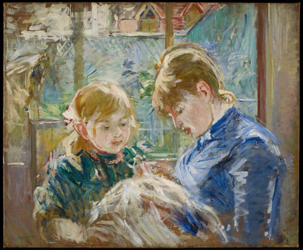 Berthe Morisot; The Artist's Daughter, Julie, with her Nanny; c. 1884